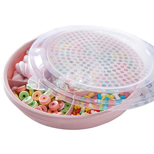 Zokeo Creative Plastic Round Dried Fruit Plate Candy Snack Storage Box Cake Stands from Zokeo