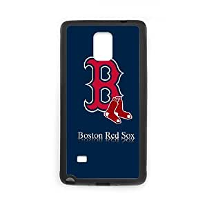 caso Boston Red Sox L9M97N6SV funda Samsung Galaxy Note 4 funda 2165EH negro