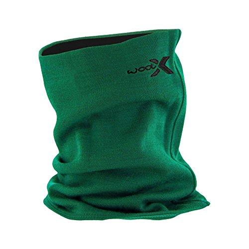 Woolx Unisex Merino Wool Neck Gaiter For Men & Women - Warm and Soft - Emerald Black -