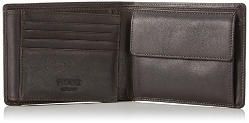 Picard Herren Brooklyn Geldbörsen, Braun (Cafe), 13x10x3 cm