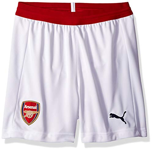 PUMA Men's Arsenal FC Short Replica Kids with Inner, White/Chili Pepper, -