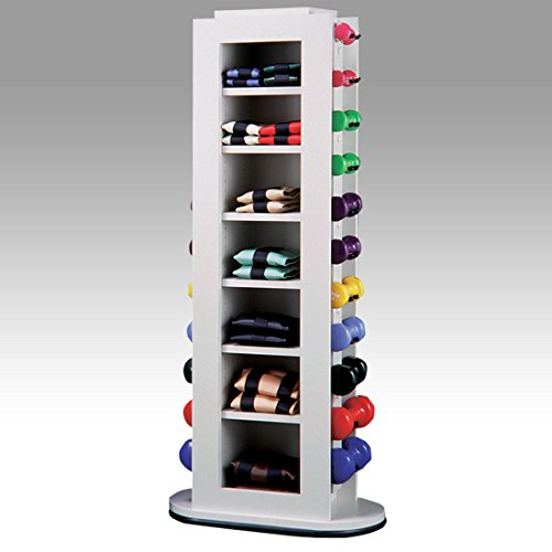 29.5'' x 14'' x 54'' White Kiosk - Weight Rack - CL-5114M