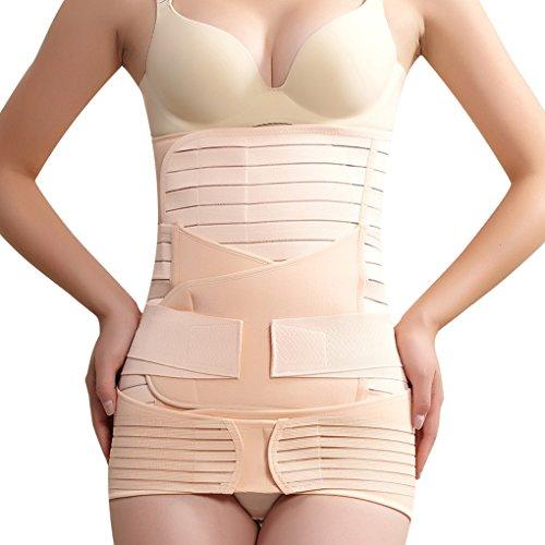 Vogue of Eden Women's Thick Three-piece Maternity Re-Shaping Abdominal Support Belt Stripe