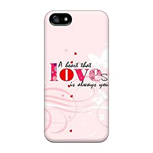 PHhJGIU223JbgZF Tpu Case Skin Protector For Iphone 5/5s Love Is Always With Nice Appearance