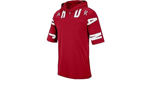 3e52e654 Jordan Sportswear 23 Men's Hooded T-Shirt - AA1915 (Small, Gym Red/White):  Amazon.ca: Clothing & Accessories