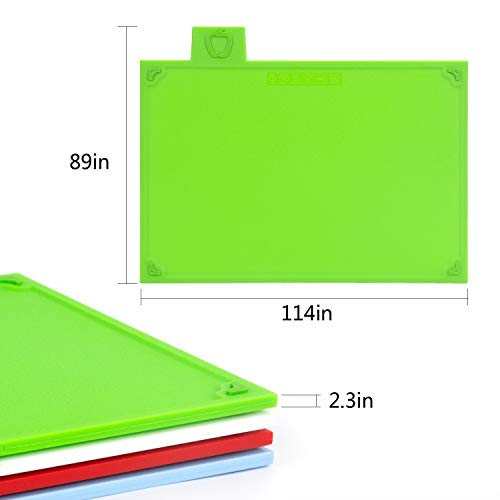 Cutting Board Set, Non-slip Chopping Board with Stand, BPA Free, FDA Approved Reversible Chef Cutting Boards, Color Coded Chopping Board Set, Easy-access Draining Rack for Kitchen by LinLins (Image #1)
