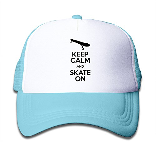 kids-keep-calm-and-skate-on-wordmark-trucker-hat-skyblue