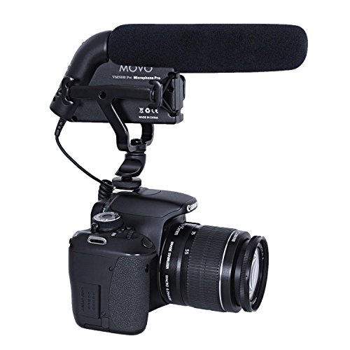 (Movo VXR5000-PRO HD Condenser Prosumer Video Microphone for DSLR Video Cameras with High Pass Filter and Audio Level Control (Aluminum Body) )
