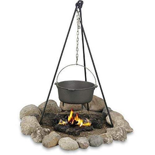 Mikash Camping Campire Tripod Cookware Chain Holder Open Fire Outdoor Cooking New | Model GRLLST - 176 ()