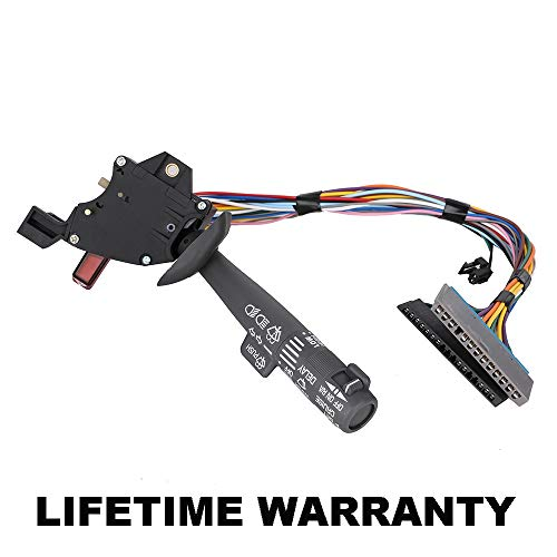 Gm Multifunction Switch - Multi-Function Combination Switch Assembly | Turn Signal, Wiper, Washers, Hazard Switch, Cruise Control for Chevy Tahoe Blazer K1500 K2500 K3500 C1500 Suburban, GMC & more OE 2330814 26100985 26036312
