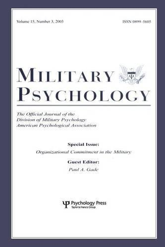 Download Organizational Commitment in the Military: A Special Issue of military Psychology: 15 (2003-08-12) pdf epub