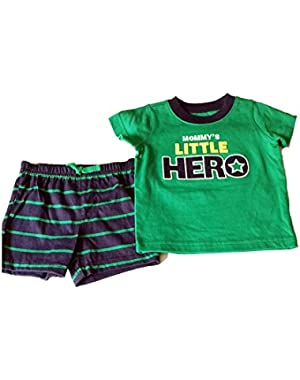 Mommy's Little Hero Shorts Set Size 3-6 Months