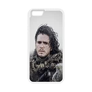 iPhone 6 4.7 Inch Cell Phone Case White hg19 jon snow game of thrones film art FXS_698550
