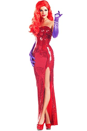 Party King Women's Toon Starlet Sexy Costume Dress Set, Red, Large ()