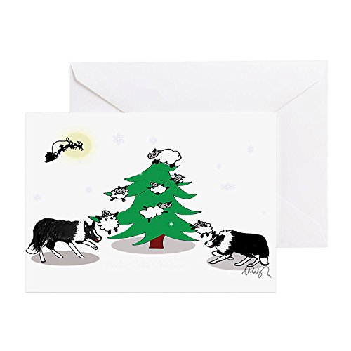 CafePress - Black And White Border Collie Christ - Greeting Card, Note Card, Birthday Card, Blank Inside Matte