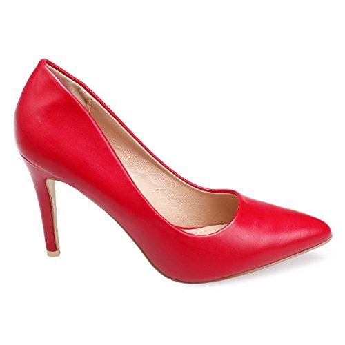 Mujer Modeuse La Zapatos Sintético De Rojo Material Vestir 6Z1wZY