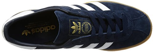 adidas Munchen, Zapatillas de Entrenamiento para Hombre Azul (Collegiate Navy/ftwr White/gum 3)