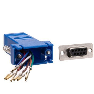 Modular Adapter, DB9 Female to RJ45, Blue ( 10 PACK ) BY NETCNA by NETCNA