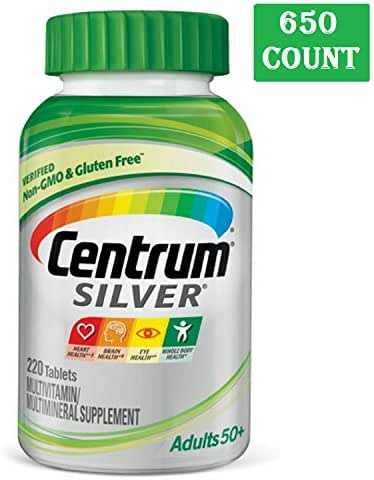 Centrum Silver Adult (430 Count) Multivitamin/Multimineral Supplement Tablet, Vitamin D3, Age 50+ (430 Count)