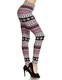 Women's Buttery Soft Print Leggings Christmas -Carry...