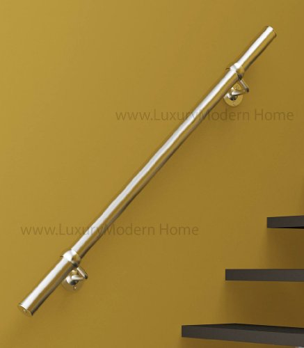 sshr1 Brushed Satin Stainless Steel 304 Handrail Connectable - 1 meter 39'' inches Railing Guardrail Tube Baluster Stair Staircase by www.LuxuryModernHome.com (Image #1)