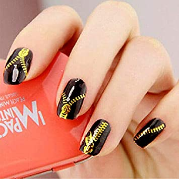 Amazon.com: Stickers & Decals - Nail Design Gold Stickers for Nails ...