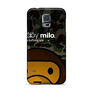 Shock-Absorbing Cell-phone Hard Cover For Samsung Galaxy S5 (ErB17448bBbh) Unique Design Realistic Baby Milo Image
