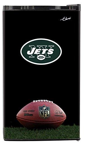 NFL New York Jets Top Refrigerated Beverage Center, 3 cu. ft., Black