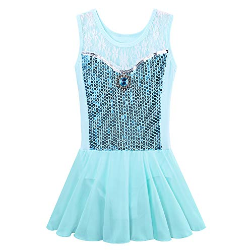 BAOHULU Toddlers Dancing Cosplay Tutu Ballet Leotard for Girls 3-12 Years B098_Blue_4A]()