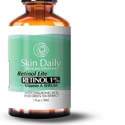 Skin Daily Retinol Serum - 1% Complex Lite Formula - Concentrated Dose Day/Night for All Skin Types - 1 fl oz