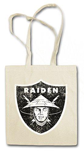 OAKLAND RAIDEN LOGO Hipster Shopping Cotton Bag Cestas Bolsos Bolsas de la compra reutilizables - Los Angeles Mortal NFL MK Raiders Kombat