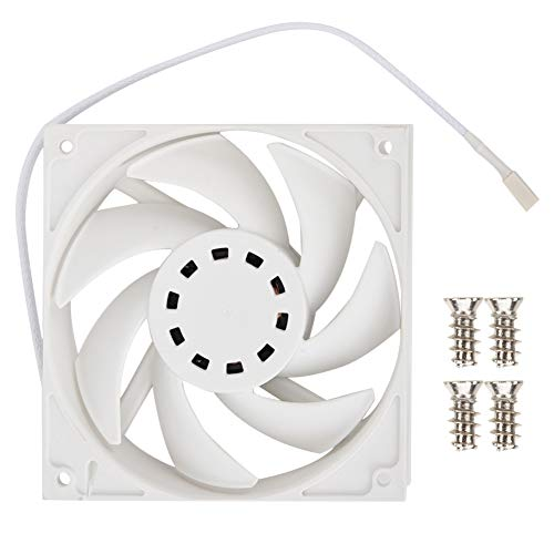 ASHATA PC Cooling Fan, DC12V 0.18A 2.16W 500-2200RPM Industrial Grade PC Computer Cooling Fan 4-pin PWM,Mute DC12V Cooling Fan Hydrodynamic Bearing(White)