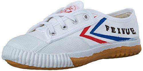 Zelten Unisex Feiyue Classic Canvas Kung Fu Shoes White-dabowen
