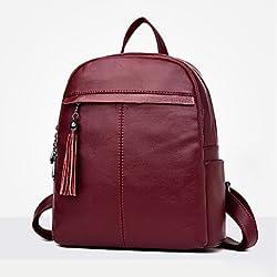 1cc17d721b562 BOAOGOS Frauen Taschen All Seasons PU-Rucksack mit Reißverschluss für  Casual Outdoor Lila Rot Schwarz