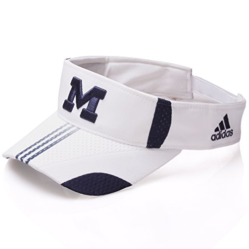 NCAA Indiana Michigan Universtiy Wolverines Visor Velcro Closure (Michigan Wolverines Team Visor)