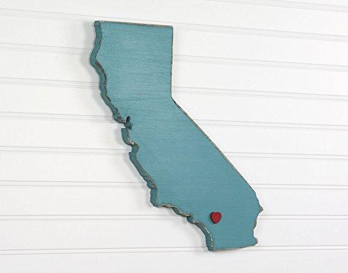 California State Shape Wood Cutout Sign Wall Art. 17