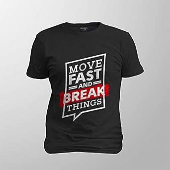 Antika Men T-Shirt Move Fast, Black, L