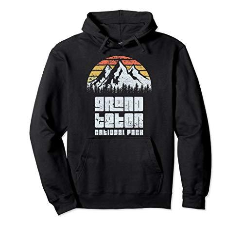 Grand Teton National Park Camping Hiking Retro Hoodie (Grand National Sweater)