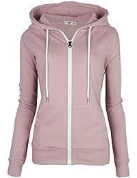 70d96a2dc Women's Slim Fit Casual Full-Zip Hooded Lightweight Long Sleeve Sweatshirt