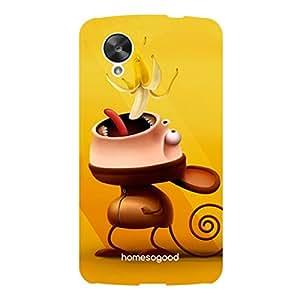 HomeSoGood Eat The Banana Yellow 3D Mobile Case For LG Nexus 5 (Back Cover)