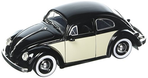 Kustom Metal - JADA 1:24 W/B Metals Bigtime Kustoms 1959 Volkswagen Beetle 2-Tone with Baby Moon Wheels Black Die Cast Car