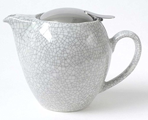 Bee House 22oz Teapot (Crackle White) (22 Teapot Small Ounce)