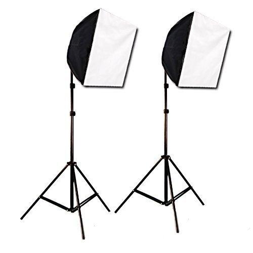 (CowboyStudio Photography Photo Studio Video Quick Softbox Lighting Light Kit, 600 Watt Output)
