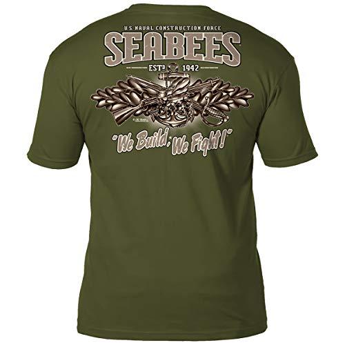 7.62 Design US Navy Seabees 'Vintage' Men's Battlespace T-Shirt MD