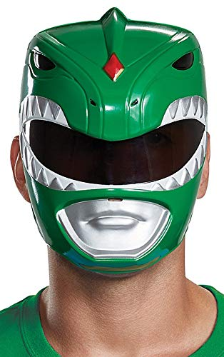 Disguise Men's Green Ranger Adult Mask, One Size Adult Power Ranger Costume