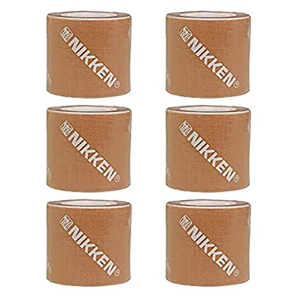 Image of Athletic Tapes & Wraps Nikken 6 Peach DUK Dynamic Underlayer Kinetic Tape (19154) - Produces Warmth from Natural Energy - Helps Reduce Tissue Pressure and Provide Comforts To Stress Muscle and Joints, Sticks for Days