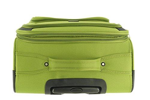 41cxwVqS0zL - Maletín de plástico Airport Color Verde Tamaño L Plástico Viaje Maleta Case FA. bowatex