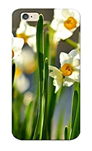 Iphone 6 Scratch-proof Protection Case Cover For Iphone/ Hot White And Orange Daffodils Phone Case