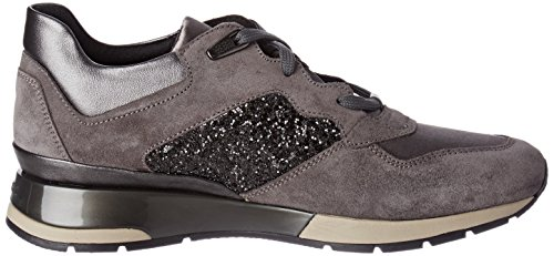 Grey Top Geox Women's C9278 Shahira Low Dk Anthracite D B Grey Sneakers tXrXwqz