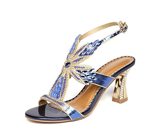 LIVY - Sandalias de vestir para mujer Azul